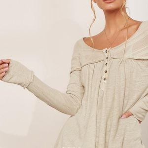 NEW Free People Henley Top